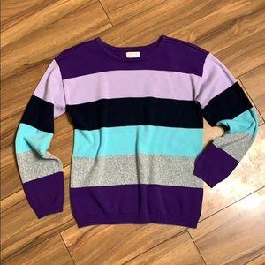 NWOT 1989 Place Color Block Sweater